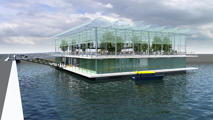 Artist impression Floating Farm