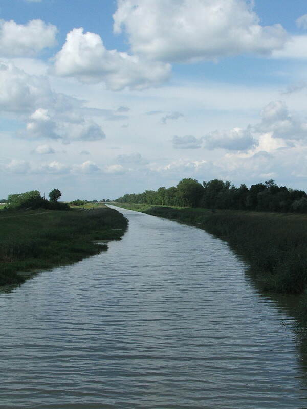 A major canal flows though agricultural lands