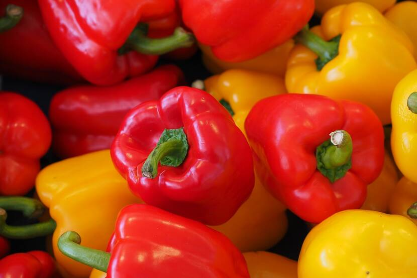 Close-up of ripe bell peppers