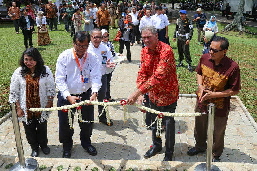 Opening Ecodome in the Botanical Garden in Bogor