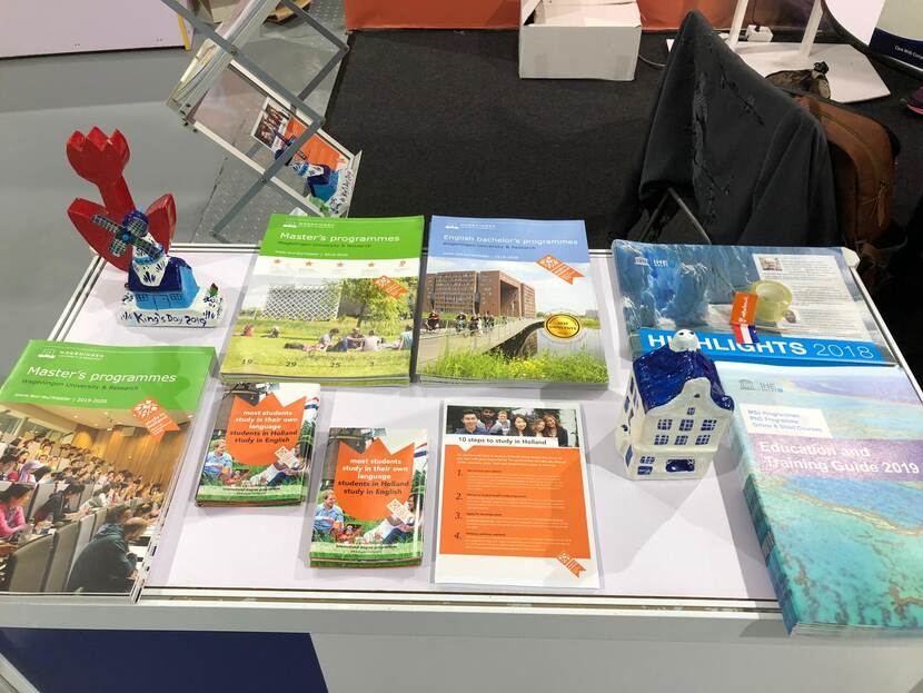 Myanmar Interantional Education Fair Study in Holland Materials