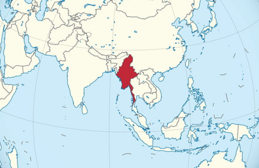 Myanmar world map