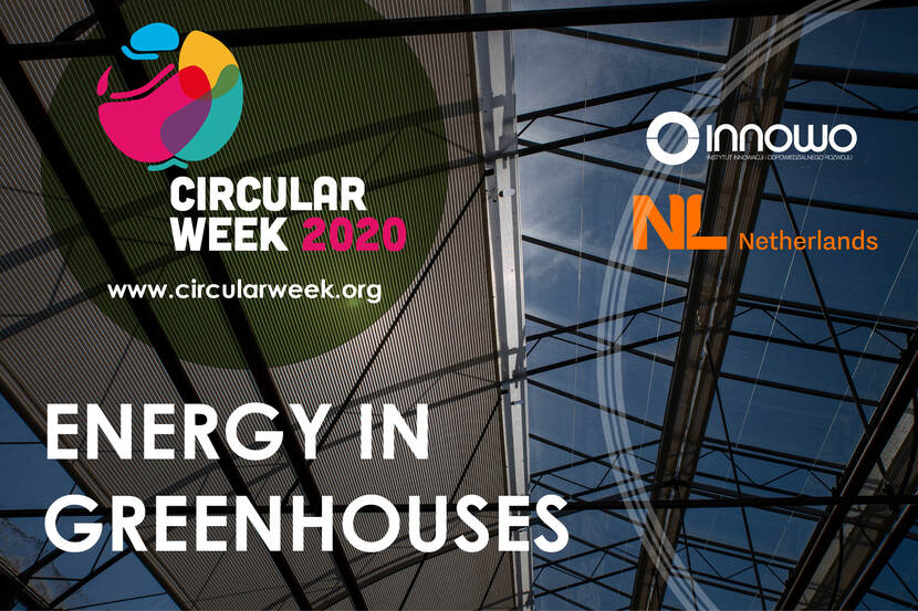 announment of circular week and webinar over energy in greenhouses