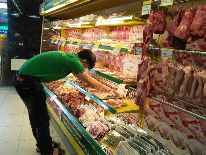Pork at supermarket