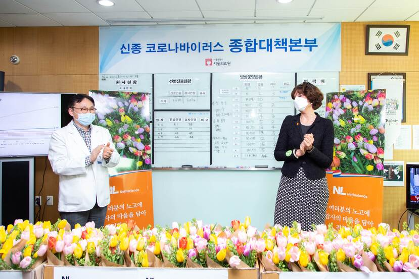 1.000 tulip bouquets to Seoul Medical Center